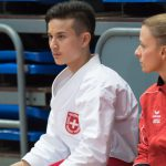 2017 WM U18 Teneriffa mit Nationaltrainerin Michelle Saner (20-fache SM Kata)