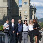 2018 mit Ramona Brüderlin, Nationaltrainer Franco Pisino, Elena Quirici, Nina Radjenovic und Noémie Kornfeld