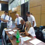 AM volle Konzentration mit NSK-Präsident Tommaso Mini