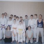 Team Bushido mit Schiedsrichter Alija, Coachs Conny und Patrick