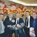 2000 mit Roberto Danubio, Daniel Humbel, Marc Keller, Manfred Haberer Hamburg 2000