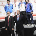 2011 EM Siegerehrung mit WKF-Präsident Antonio Espinos