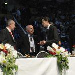 EM 2011 Roland Zolliker, Marc Keller mit Bundesrat Ueli Maurer