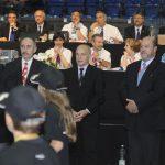 2011 EM Bundesrat Ueli Maurer, WKF-Präsident Antonio Espinos