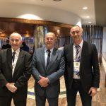 2019 EM Guadalajara mit WKF-Präsident Antonio Espinos, Giuseppe Puglisi