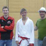 Roman Schumacher mit Coach Robert Zobec und Faby Honegger