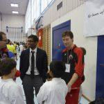 Anushanth Selvam mit Coachs Christian Rüttimann und Robert Zobec