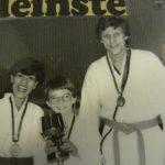 Daniel Miletic, Sieger Kata, mit Mary Gindrat und Markus Knecht