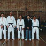 Wado-SM mit Robert Schaffner, Beat Tinner, Schiedsrichter Ferenc Kalamasz, Roman Mitrevski