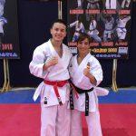 2018 mit Sandra Sanchez,  Welt- und Europameisterin Kata