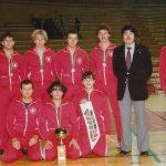 EM-Bronze 1981 Rom mit drei Bushidoka: Mario Monte, Roger Erne, Daniel Humbel und Coach Alex Beck