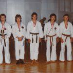 1979 Team-Kumite mit Roger Ernst, Jürg und Daniel Humbel, Gian-Carlo Maraffio