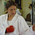 Fabienne unterrichtet Kumite