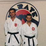 Mit Ferenc Kalamasz - Selektion für Weltcup Wado 1994 Tokyo
